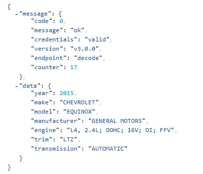 Free VIN Decoder – CarMD API – CarMD